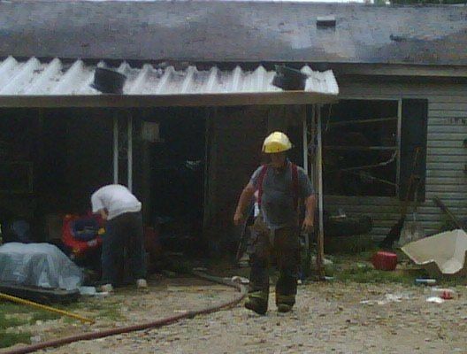 FF Covey at New Columbus area fire